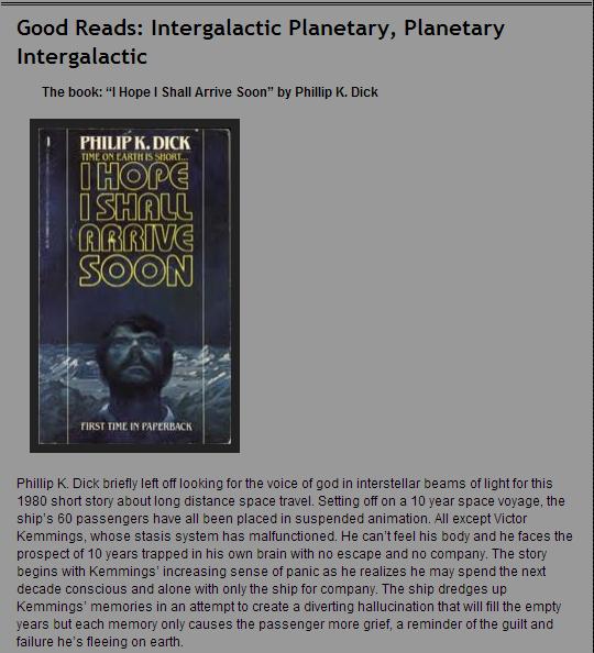 Good Reads: Intergalactic Planetary, Planetary Intergalactic