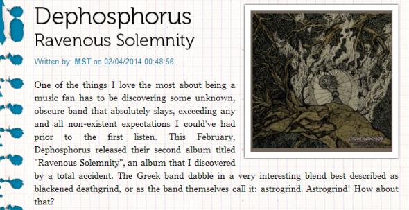 """""""Ravenous Solemnity"""" review @ rockfreaks.net"""