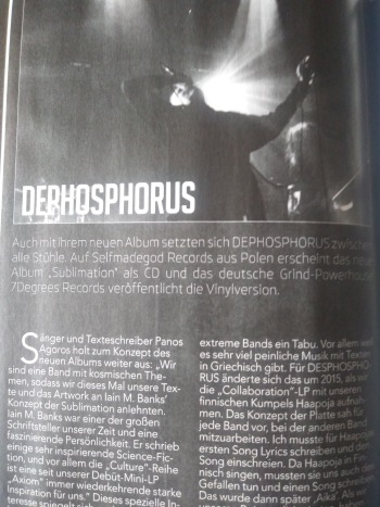 Dephosphorus feature @ Legacy mag/CD